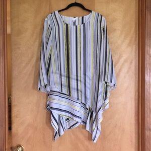 Layered striped tunic top
